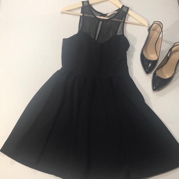 ef1b2d29d82a Lush Dresses   Skirts - ☕️Lush Black Sheer Top Dress